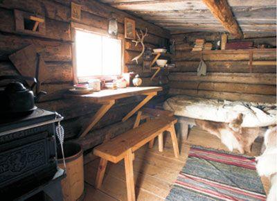 hunting cabin minimal interior wood cabins Pinterest