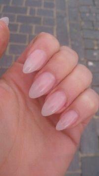 Natural acrylic almond nails | nails | Pinterest ...