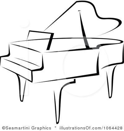Royalty-Free (RF) Piano Clipart Illustration by Seamartini