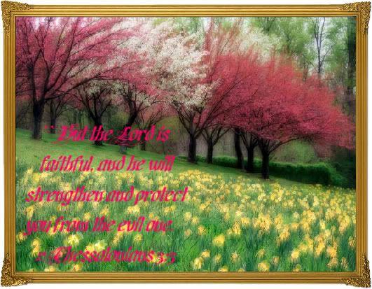 Landscapes Spring Verses Bible