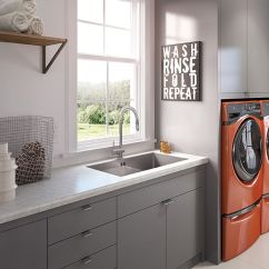 White Porcelain Undermount Kitchen Sink Marshalls Wilsonart Carrara 4924 | Laundry Room Pinterest ...