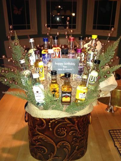 Man Bouquet Of Mini Liquor Bottles Cocktails Pinterest