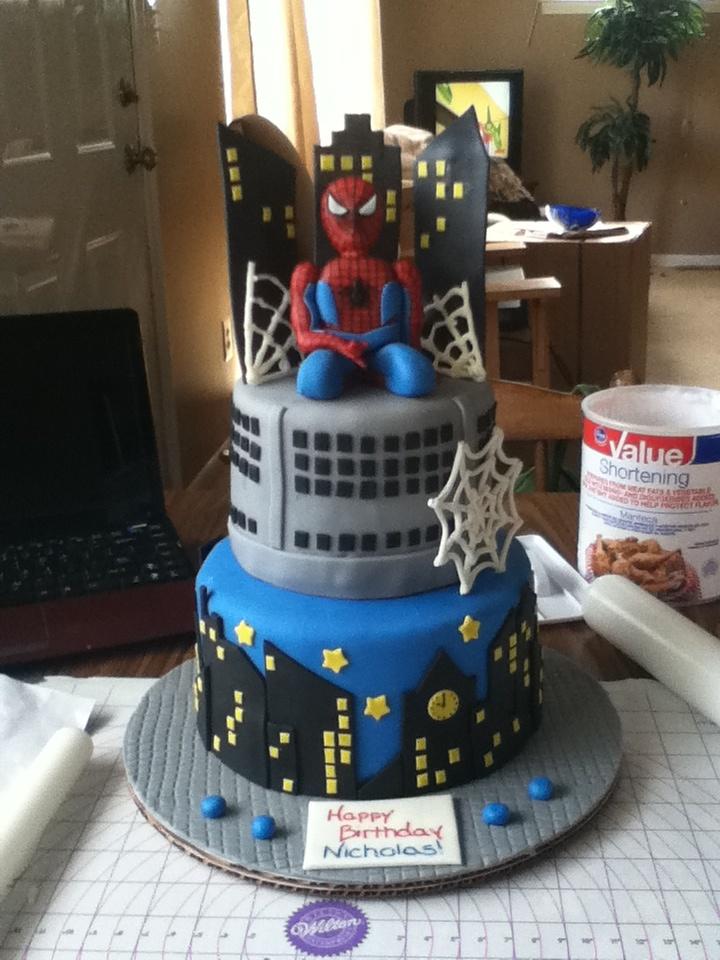 Birthday Bakery Man Spider Cakes Walmart