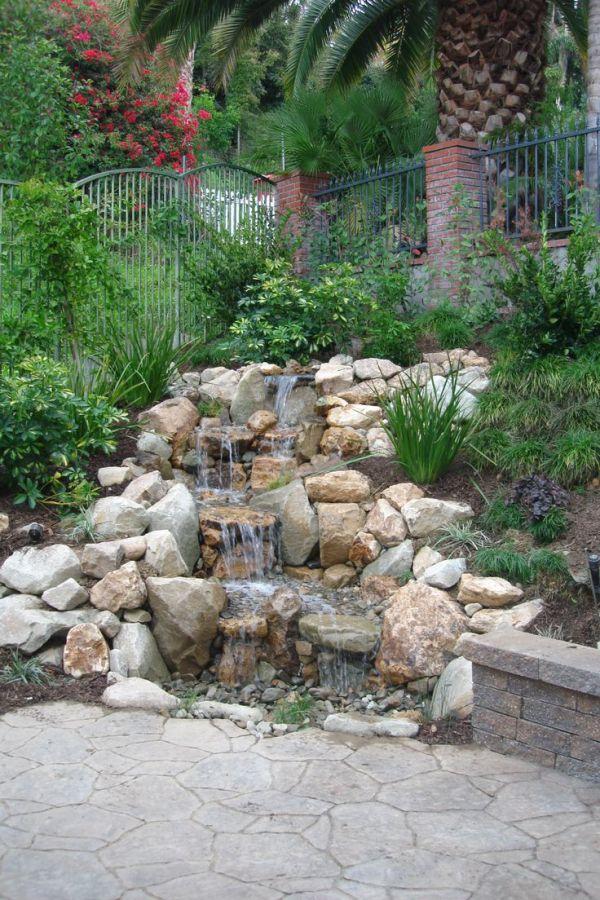 ideas rock waterfall