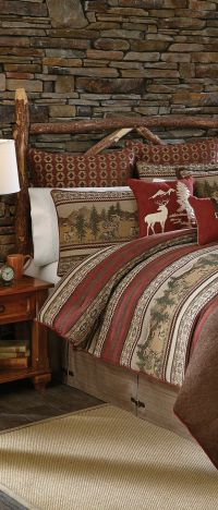25+ best ideas about Log cabin bedrooms on Pinterest