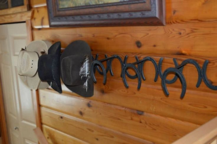 Horseshoe Cowboy Hat Rack Woodworking Projects Plans