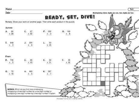 Students can dive into this math worksheet that provides