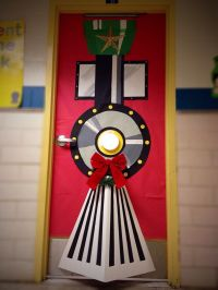 Christmas door decoration #polarexpress #christmastrain # ...