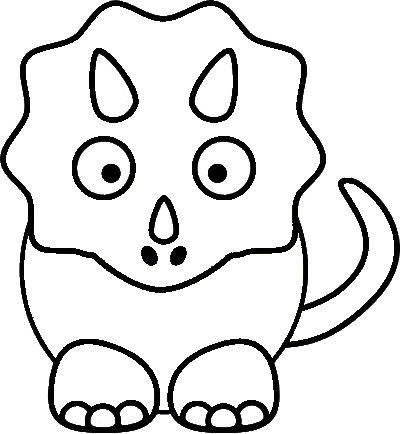 Free Triceratops Dinosaur Template or Coloring Page