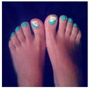 toenail design makeup & nails