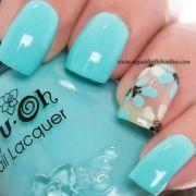 ideas aqua nail