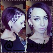 #leopardhair undercut short hair