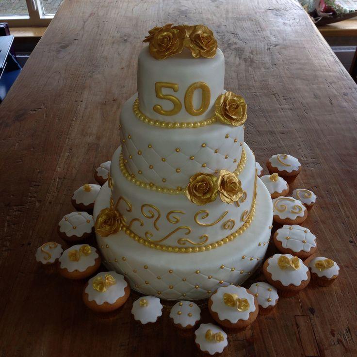 Bruidstaart 50 Jaar Getrouwd Mijn Taarten Pinterest Cake