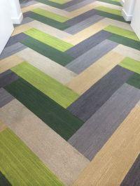 """Plank carpet tiles in a herringbone pattern. """"Plank ..."""