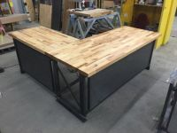 The industrial L shape Carruca Office Desk - Large ...