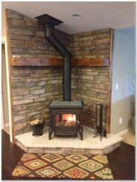 Wood Stove Corner Hearth Ideas | Wood stove redo ...