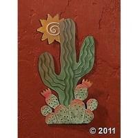 Cactus & Sun Wall Art Metal Southwestern Style ~NEW