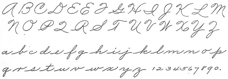 47 best images about American calligraphy: Handwriting on