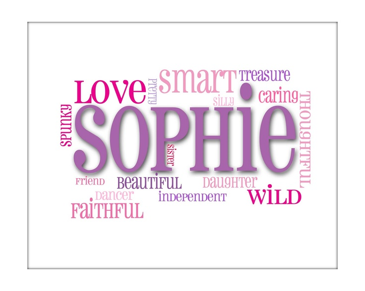 Name Prints Sophie Words | It is all in a name | Pinterest ...