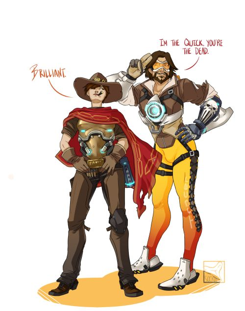 Overwatch Outfit Swap Tracer And McCree Submitted By