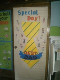Father's day door decoration | sports theme classroom ...