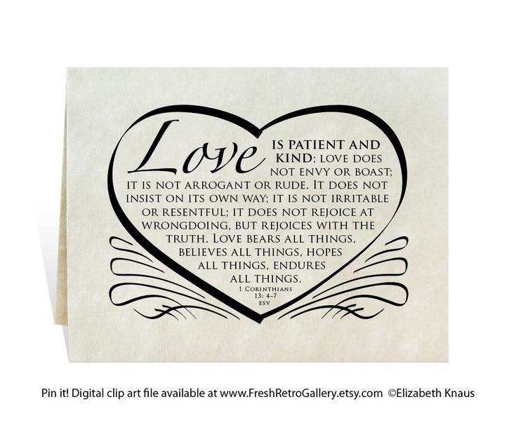 Wedding Card Program Invitation Love Is Patient And