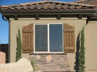 Rustic Exterior Window Shutters