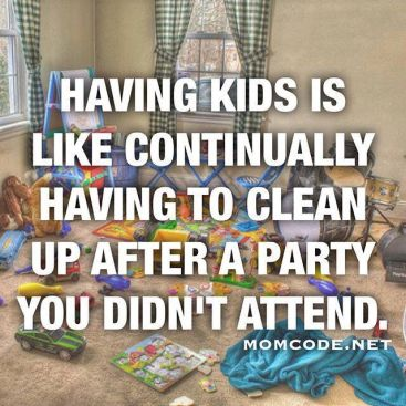 Image result for cleaning after kids
