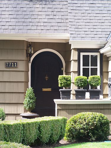 Exterior paint colors / black door & trim: