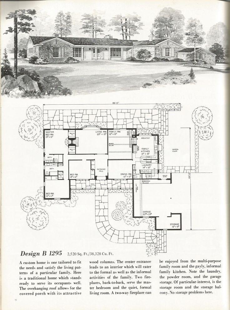 1000+ ideas about Vintage House Plans on Pinterest