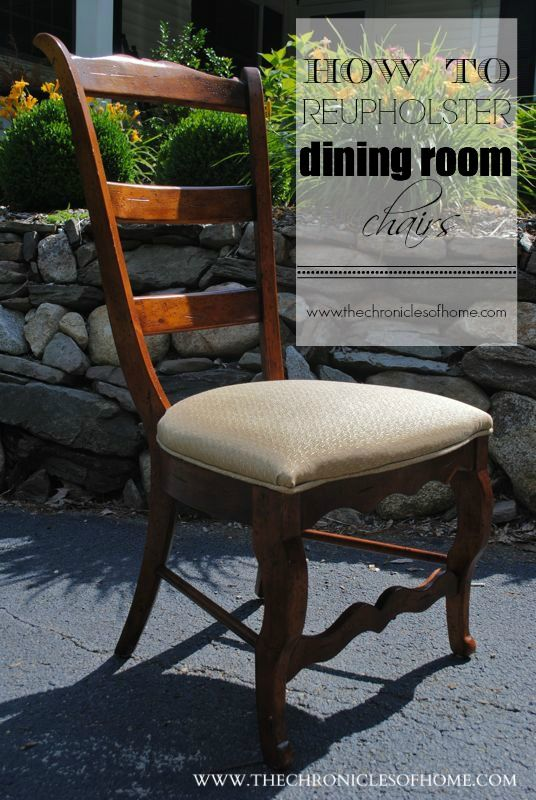 17 Best ideas about Recover Dining Chairs on Pinterest