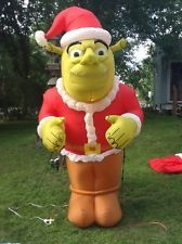 Airblown Inflatable Christmas Shrek The Ogre In A Santa ...