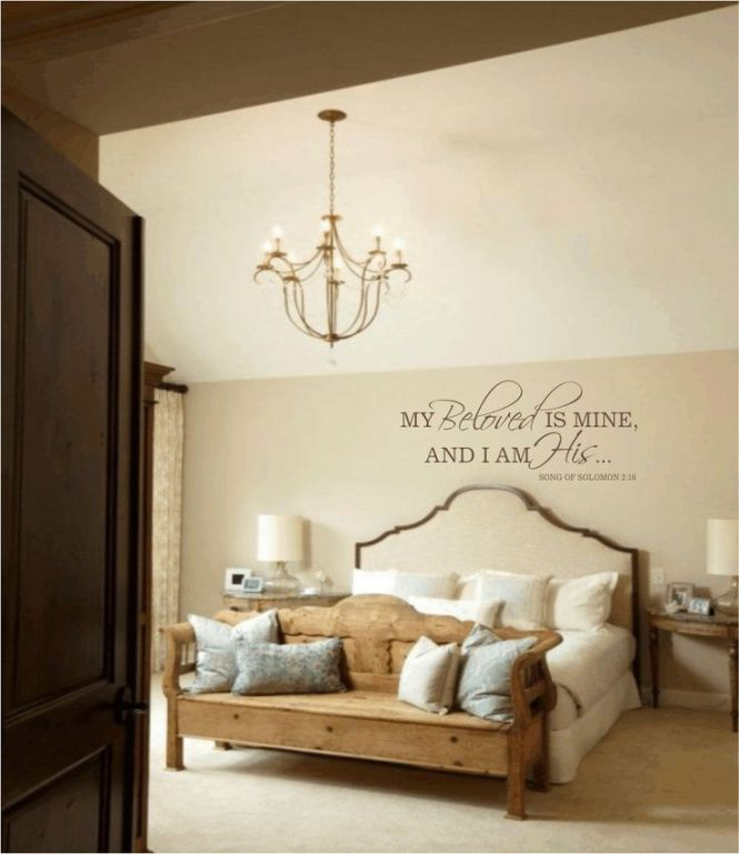 Master Bedroom Wall Decal My Beloved Is Mine And I Am His Quote Vinyl Decals Wedding Love 18hx43w Fs0191