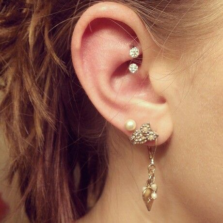 Rook piercing! Finally with the cute jewelry!