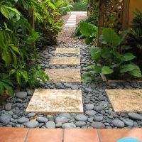pavers in pebbles (two-tone) | Garden Design | Pinterest ...