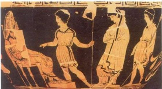 Image result for Ancient Greek oedipus at colonus vasw