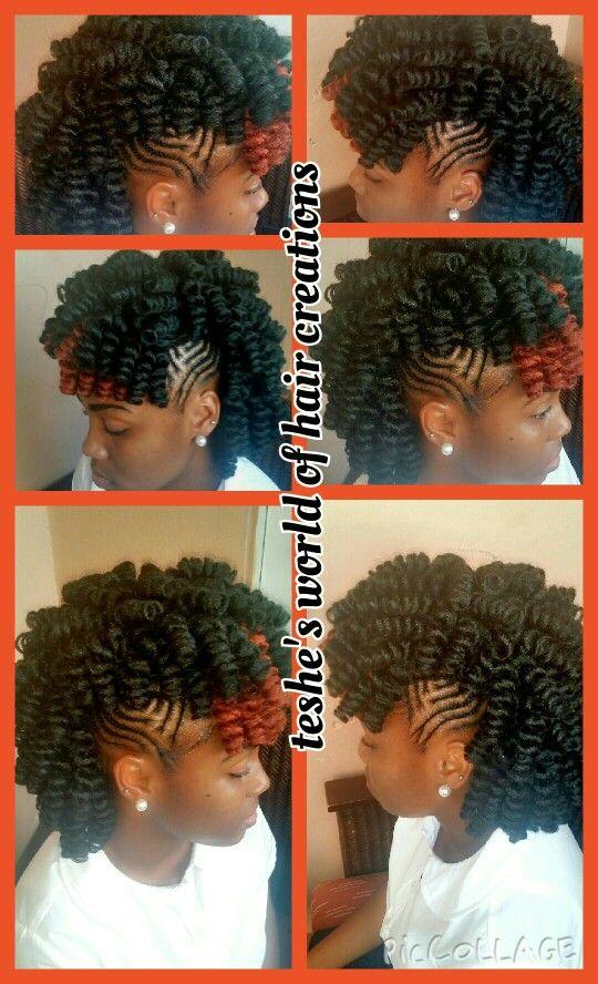 Crochet braids with braided sides  hairstyle ideas n inspiration  Pinterest  Braids Crochet