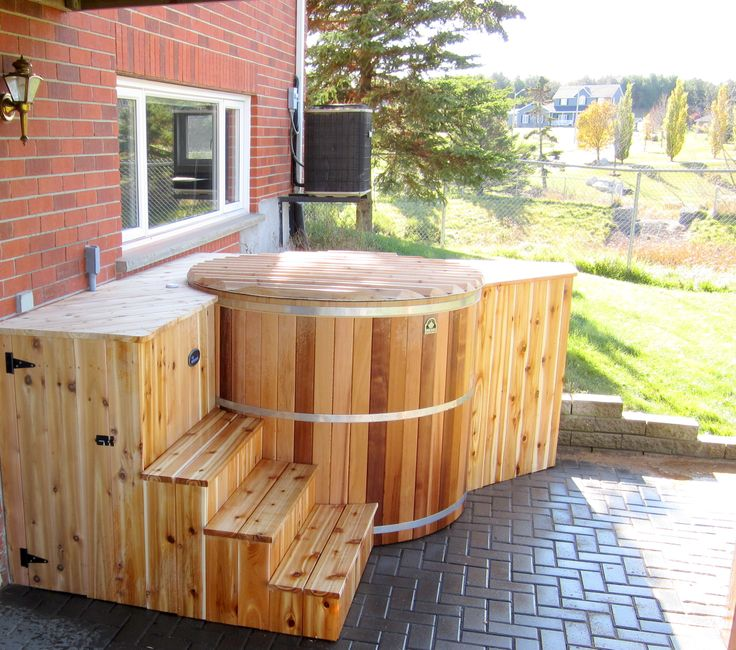 Our Round And Oval Cedar Hot Tub Kits Are Assembled On Site For More Info Httpwwwcanhottub