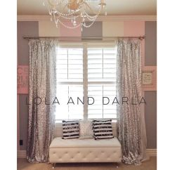Living Room Curtain Ideas Uk Large Decorative Mirrors I Made These Silver Sequin Curtains To Match The Gold ...