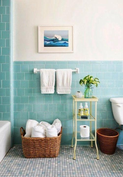 17 melhores ideias sobre Azulejos Azuis Para Banheiro no