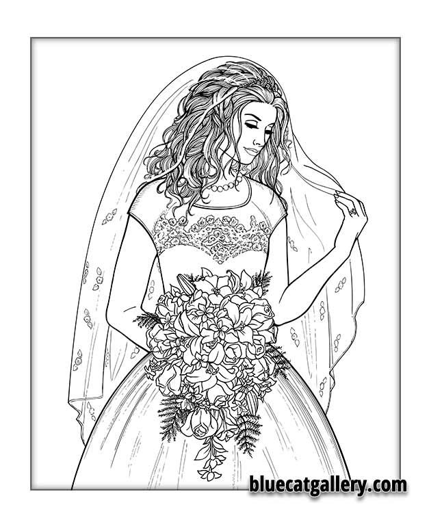 42 best images about Wedding/Bride Coloring Pages on