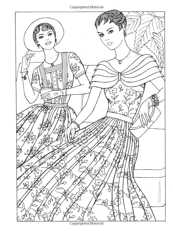 245 best images about Fashion Coloring Pages for Adults on