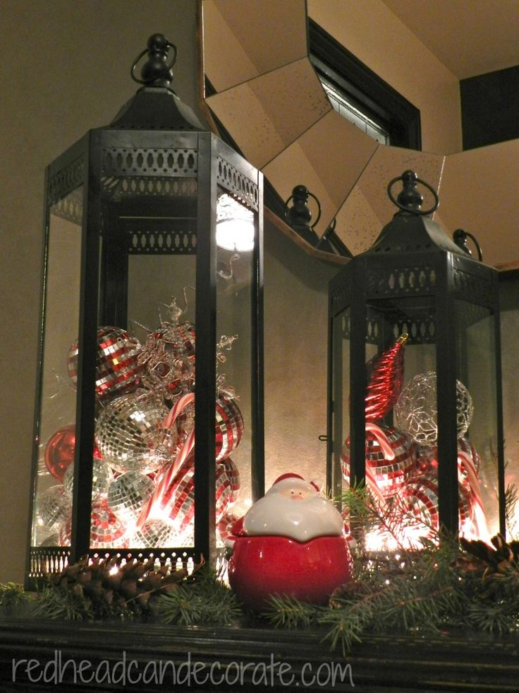 17 Best images about Christmas Lanterns on Pinterest  Red