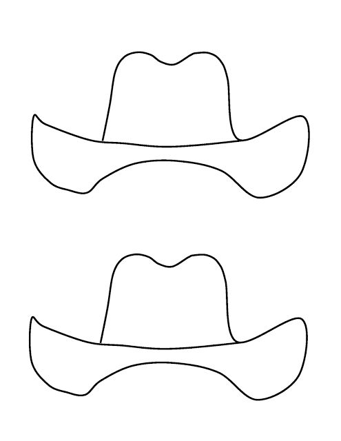 Cowboy Adjectives template for craft that accompanies the