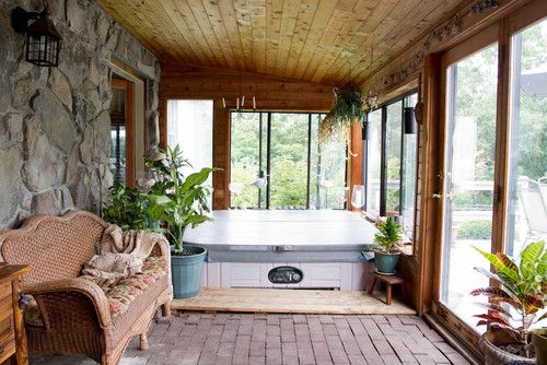 Another Sunroom Idea With Tongue And Groove Wood And