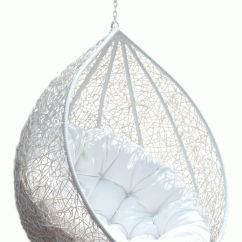 Bedroom Hanging Chair Cheap Cover Hire Portsmouth Rattan Egg White Half Teardrop Wicker Having Puff Comfy ...