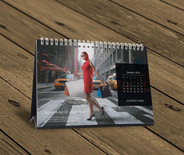 Desk Table Calendar 2016 Design Template KB10 W13b