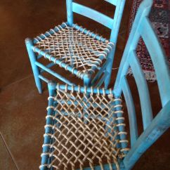 How To Repair A Lawn Chair Stadium Chairs Target Chalk Paint And Rope Seat Bottoms! I Am Pleased With The Results! | Can Do Pinterest Am, ...