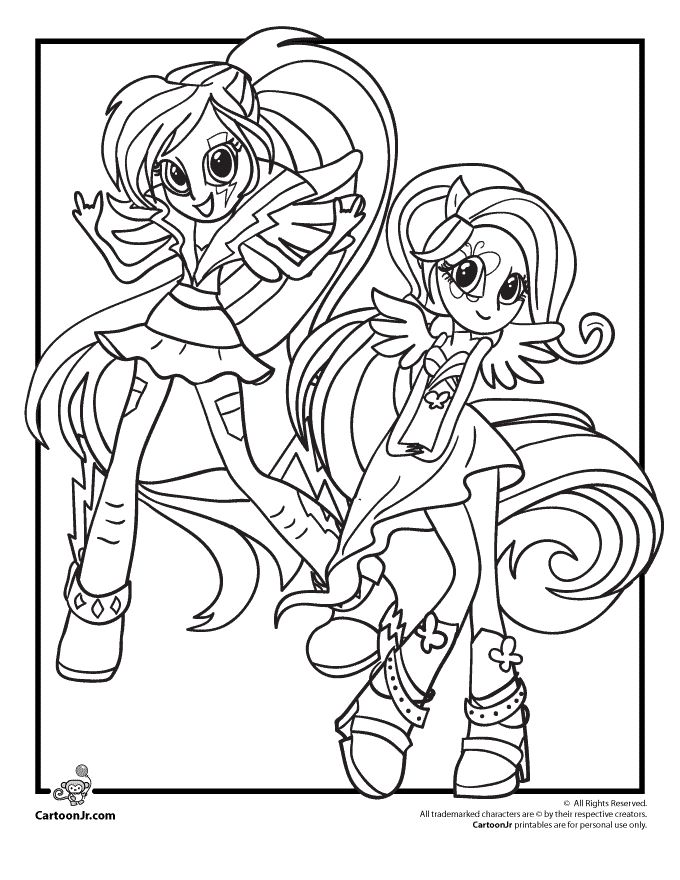 Human My Little Pony Body Base Sketch Coloring Page