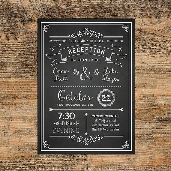 reception invite templates